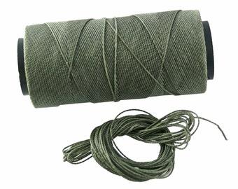 Dark Grey: Waxed Polyester Cord, ~1mm Macrame Cord, pack of 25ft (8.33 yards) / Hilo Encerado, Linha Encerada, Waxed Polyester Thread