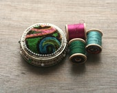 For Mod Sewing - Vintage Pin Cushion, Paisley Neon, Sewing Notions