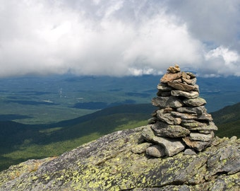 Hiking Cairn in the White Mountains, New Hampshire - 8x10 Color Nature Photo Print - Appalachian Trail Art