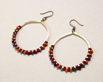 Full Moon Earrings (red)