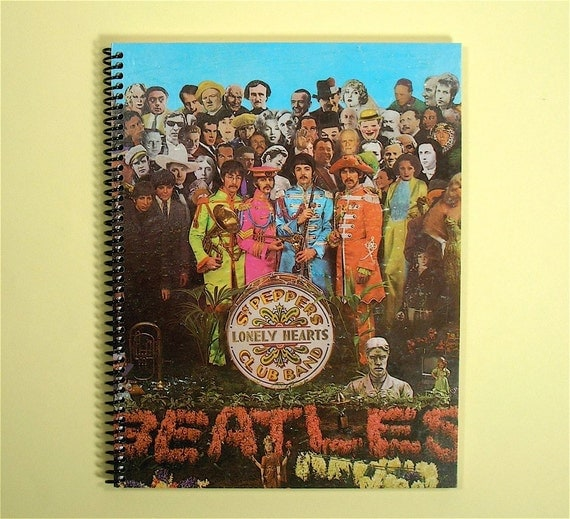 Beatles Spiral Notebook Journal Vinyl Record Album Cover Art