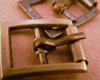 Pair of Antiqued Brass Buckle Blanks