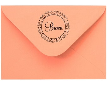Personalized Custom Made Return Address and Name Rubber Stamps R103