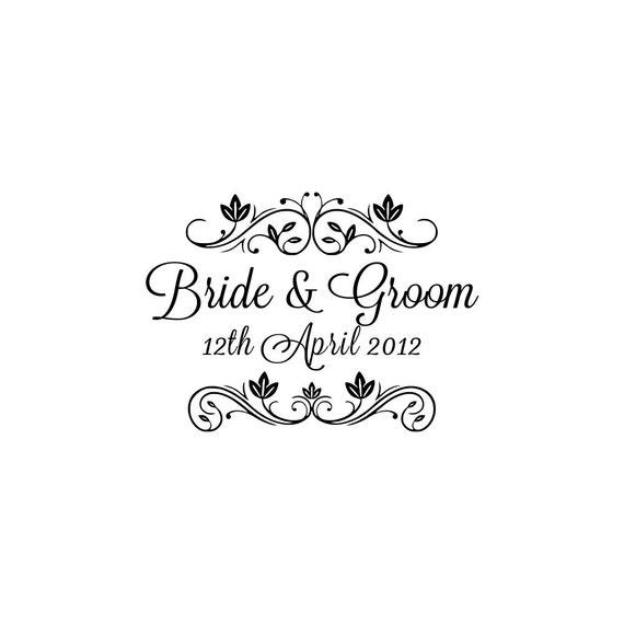 Wedding Rubber Stamps: Personalized Custom Wedding Rubber Stamps Handle Mounted Gift