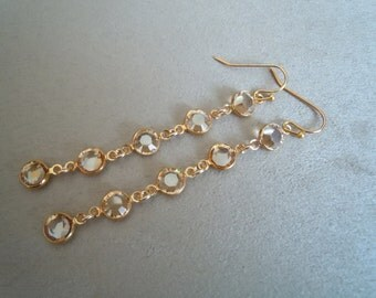 Moonlight -- Long Swarovski Crystal earrings