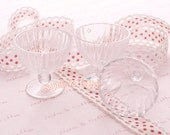 Clear Desserts Acrylic Parfait Cup Glasses Set of 5 - For Creating Parfait Charms, Miniature Sweets, Decorations