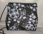 Small Purse - Sling Bag - Evening Bag - Party Purse - Special Occasion - Trumpet Vine - Black and White