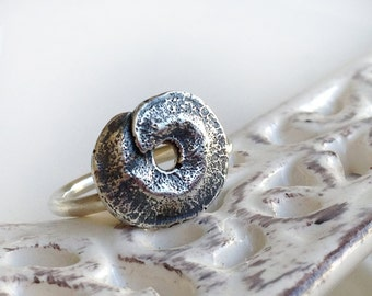 Pod Ring, Cast in Sterling Silver