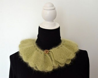 Angora Green Neckwarmer
