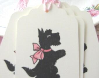 Scottie Dog Gift Tags, Scottie Dog Tags, Scotty Dog Tags