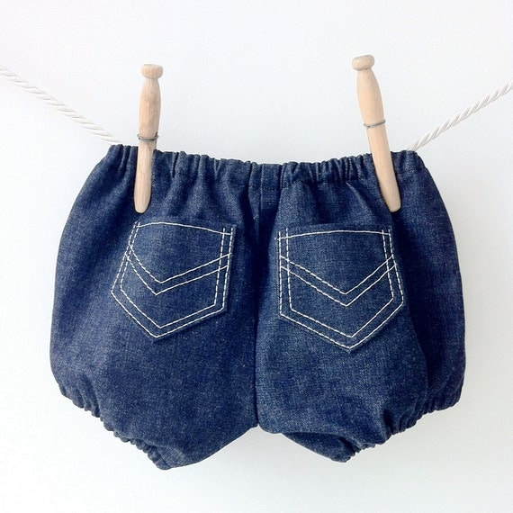 Denim Jean Diaper Covers, Baby Boy Bubble Shorts, Baby Knickers, Baby Bloomers, Baby Shower Gift, Newborn Bloomers, Baby Boy Bloomers
