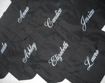 Bridesmaids Bags Tote Beach Bags Personalized Embroidered Monogrammed bag or Name Lots of colors to choose from.