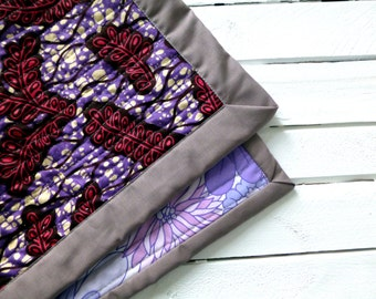African wax print / Vintage fabric quilt