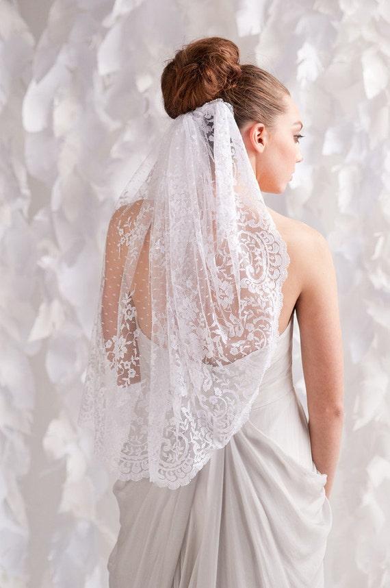 Swiss dot lace veil