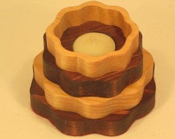 Round Tea Light Candl Holder Handmade