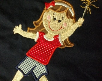 4th of July Girls Sparkler Custom Personalized Shirt