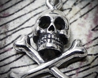 Sterling Silver Skull and Crossbone Charm