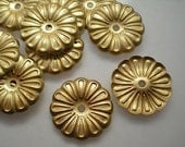 12 brass mirror rosettes, No. 9