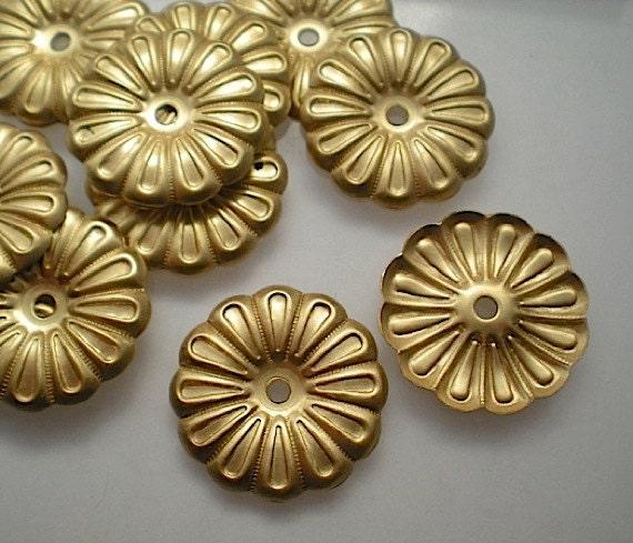 12 brass mirror rosettes, No. 9 steampunk buy now online