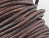 3mm Leather cord in Brown . 5 feet . High quality genuine leather