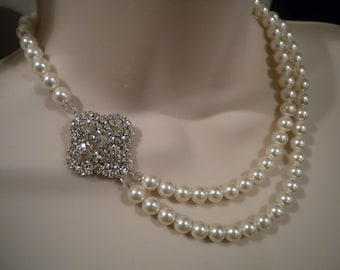 Wedding Necklace Swarovski Bridal Necklace Wedding Jewelry Wedding accessory PN047