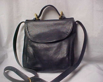 Blue/ black coach purse/ shoulder bag
