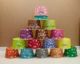 50 Polka Dots Baking Cups