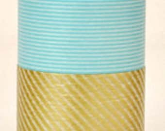 mt Washi Masking Tape - Pale Blue Stripes - Wide - single roll (15m)