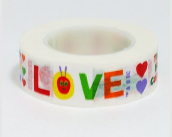 Funtape Masking Tape - The Very Hungry Caterpillar - Heart