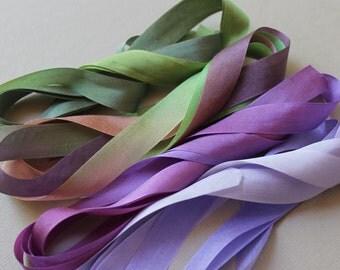 Pansy Mix - 4 metres of 13mm silk ribbon