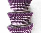 Purple Horizon Stripe Cupcake LIners (50)