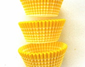 Yellow Horizon Stripe Cupcake LIners (50)