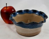 Blue and White Apple Onion Baker Wheel Thrown Pottery