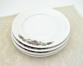 Crooksville China Plates | Vintage Bread & Butter or Dessert Dishes | Set of 4 | Afternoon Tea | Farmhouse Decor