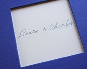 Wedding Guest Book Royal Blue/Navy Window Handwritten