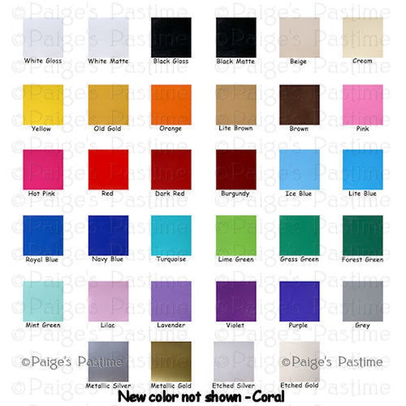 12 Adhesive Vinyl Sheets For Cricut Silhouette Or By