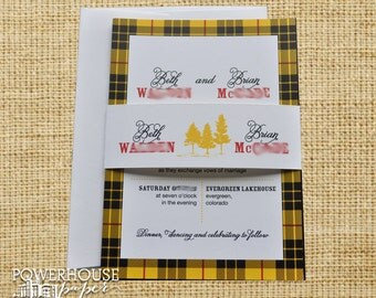 Scottish Family Tartan Wedding Invitation MacLeod Tartan