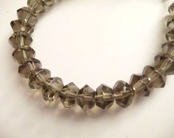 Smokey Brackelet, Glass Bracelet, Beaded Bracelet