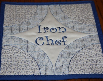 Iron Chef Quilted Pot Holder