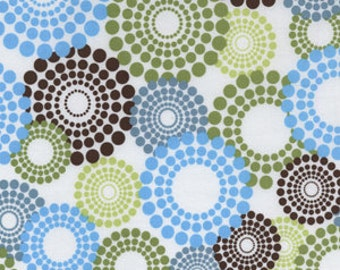 Round About in Spa fabric by Michael Miller