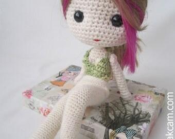 PDF Crochet Pattern for Deniz Doll Outfit