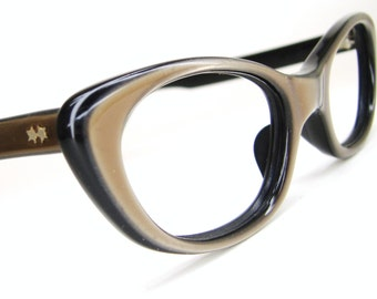Vintage 60s Retro Cat Eye Eyeglasses Sunglasses Frame