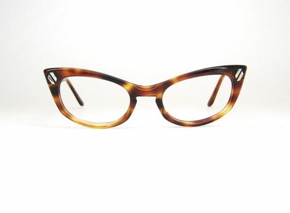 Vintage 50s tortoise cat eye eyeglasses by vintage50seyewear for Art craft eyeglasses vintage