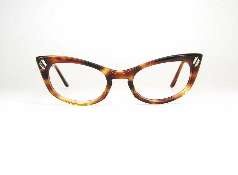 Vintage 50s Tortoise Cat eye Eyeglasses by Vintage50sEyewear