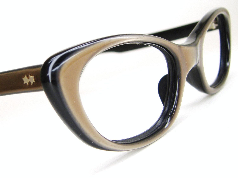 Vintage Eyeglass Frames Etsy : Vintage 60s Retro Cat Eye Eyeglasses Sunglasses Frame