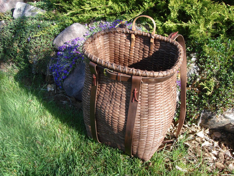 Handmade pack basket : Handmade adirondack trapper pack basket