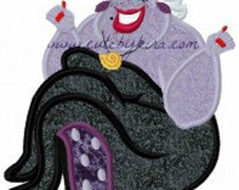 Sea Witch Applique Embroidery Design