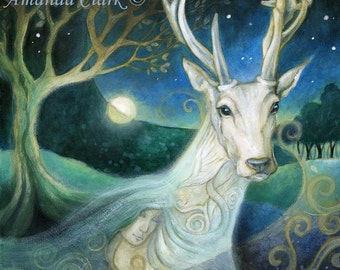 Meeting Damh. Art print by Amanda Clark
