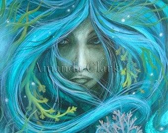 Sea Witch. art print by Amanda Clark