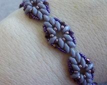 Diamond Duo Bracelet Pdf Tutorial (INSTANT DOWNLOAD)
